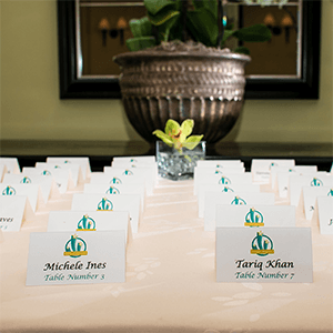 Name tags at a corporate event
