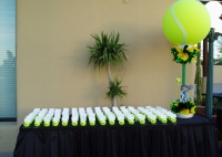 Registration Table for Tennis Bar Mitzvah